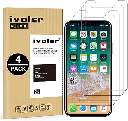 iVoler [4 Pack] Pellicola Vetro Temperato per iPhone XS/iPhone X/iPhone 10 5.8 Pollici [Garanzia a Vita], Pellicola Protettiva, Protezione per Schermo - Transparente