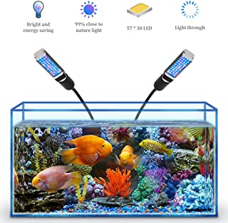 Bozily Aquarium Light for Coral Reef Aquatic Plants Growth Saltwater Freshwater, LED..