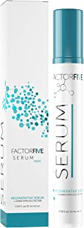 FactorFive Regenerative Serum with Human Derived Apidose Stem Cell Growth Factors, HGF for Skin Tightening and Smoothing, Wrinkle Reduction, and Rejuvenation - Travel Size, 0.34fl oz/10ml