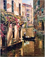 Holiday-Online-Store DIY Acrylic Painting Venice City Pictures by Numbers On Canvas Framed Wall Pictures Art for Living Room Home Decoration,40X50cm DIY Framed,E945