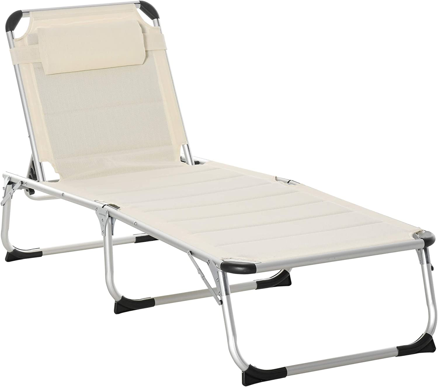 Outsunny Foldable Reclining Patio Sun Chair Lounge Excellent San Diego Mall Chaise