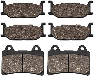 Cyleto Front and Rear Brake Pads for YAMAHA XV1600 Roadstar 1600 2001 2002 2003 2004 2005 / XV 1600 Road Star Silverado 2007 2008 2009
