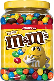 M&M'S Peanut Chocolate Candy Pantry Size Plastic Jar (62 oz.) [並行輸入品]