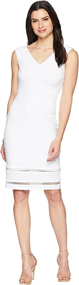 Ribbed Jersey Sheath Dress CD8A16JG