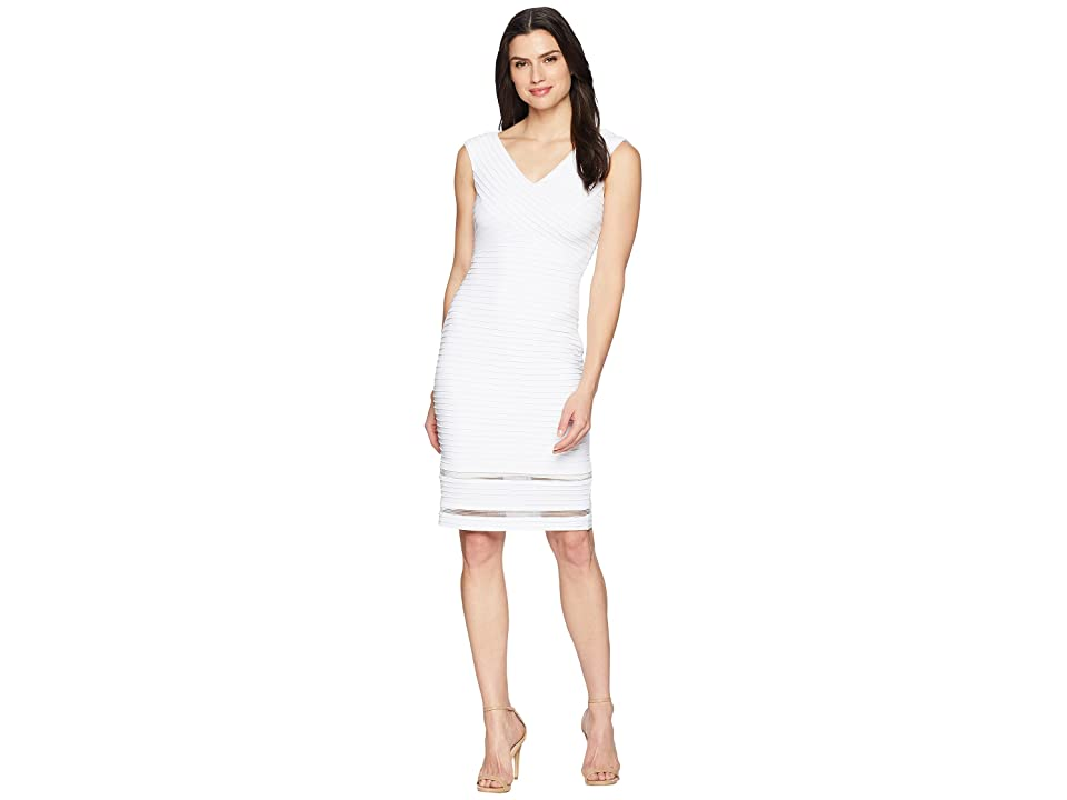 Calvin Klein Ribbed Jersey Sheath Dress CD8A16JG (White) Women