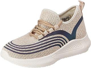 حذاء رياضي قماش برباط وخطوط مختلفة اللون للنساء من كلوب الدو