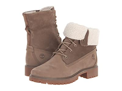 Timberland Jayne Waterproof Teddy Fleece Fold Down (Light Brown Nubuck) Women