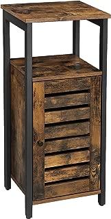 VASAGLE Industrial Storage Cabinet, Standing Cabinet, Floor Cabinet, Side Cabinet with Shelf, Multifunctional in Living Room, Bedroom, Hallway, Rustic Brown