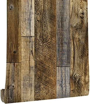 Self Adhesive Distressed Wood Shiplap Contact Paper Wallpaper For Walls Kitchen Cabinets Backsplash Cupboard Table Door Furniture 17 7x117 Inches Amazon Com