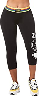 Zumba Fitness Wide Jacquard Tight Shaping Waistband Booty Lifting Pants Workout Print Capri Compression Leggings For Women
