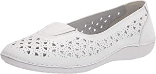 Propet Women's Cabrini Loafer Flat, White