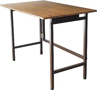 折りたたみ テーブル 折りたたみ デスク 収納 幅100cm はば100 デスク ブルックリン おしゃれ 机 リビング机 木目 鉄脚 木 カフェ たためる 作業台 作業机 サイドテーブル 完成品 …