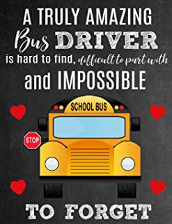 A Truly Amazing Bus Driver Is Hard To Find, Difficult To Part With And Impossible To Forget: Thank You Appreciation Gift for School Bus Drivers : Notebook | Journal | Diary for World's Best Bus Driver