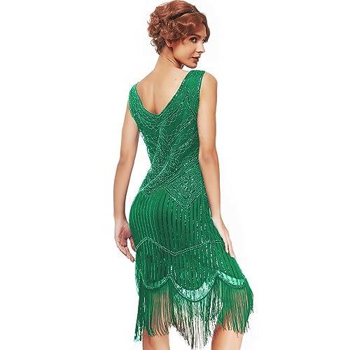 Green Long Sequin Dress