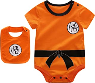 Beal Shopping Baby Infant Baby Girls Boy Bodysuit Romper Goku Modeling Short Sleeve Triangle Cotton Jumpsuit