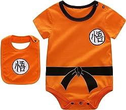 Beal Shopping Baby Infant Baby Girls Boy Bodysuit Romper Goku Modeling Short Sleeve Triangle Cotton Jumpsuit