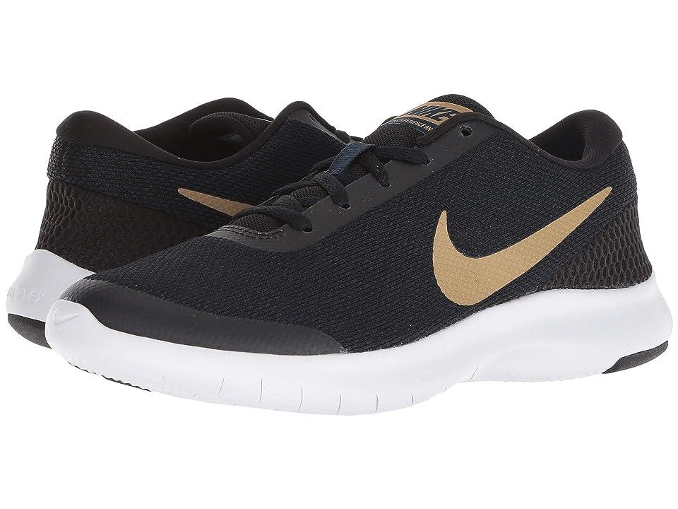 Nike Flex Experience RN 7 (Black/Metallic Gold/Obsidian/White) Women