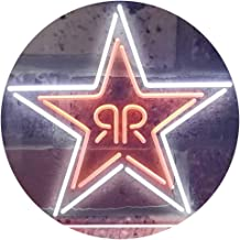TeroLED Rockstar Energy Colorful LED Neon Sign White and Orange w24 x h16