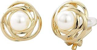 Traveller? Orecchini a clip con cristalli Swarovski FROM o oro 22 carati rodiato, perla: 10 mm.
