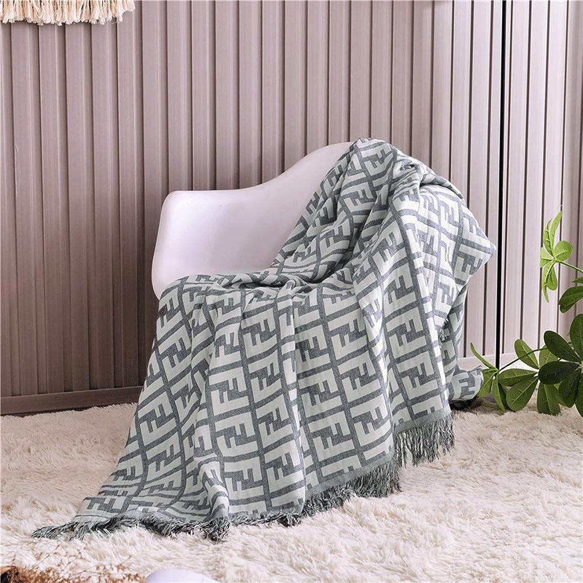 開示する葉を集める歴史家ソフトカウチ毛布 綿ニット投球毛布ソファソファの装飾毛布多機能レジャー毛布 ルームベッドルームビーチトラベル (Color : Gray, Size : 150cmx200cm)