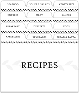 Best recipe box divider labels Reviews