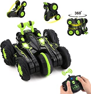 Remote Control Car, BBLIKE 2.4GHz 4WD Stunt Car 360° Spins & Flips Off-Road Racing Car for 5 Years Old Boys & Girls