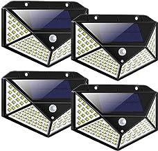LED Solar Lights Outdoor,100LED Solar Motion Sensor Security Lights,Waterproof Solar Outdoor Wall Light for Gate,Yard,Gara...
