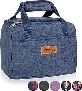 HOMESPON Bolsa Isotérmica de Almuerzo Top-Open Lunch Bag Bolsa Térmica Porta Alimentos Tela Impermeable Plegable Bolso de Mano para Mujeres, Adultos, Estudiantes y Niños