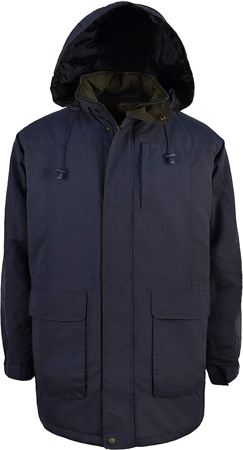 Victory Outfitters Men's Hooded Quilted Lined Oversized Lightweight Parka