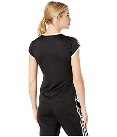 adidas Club 3-Stripes Tee (Black) Women