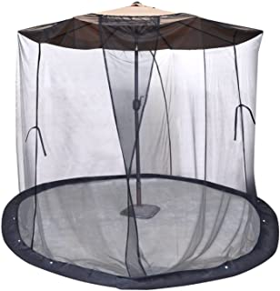 BenefitUSA Insect Net Mosquito Net Black Bug for 9' or 10' Patio Umbrella Set Screen House