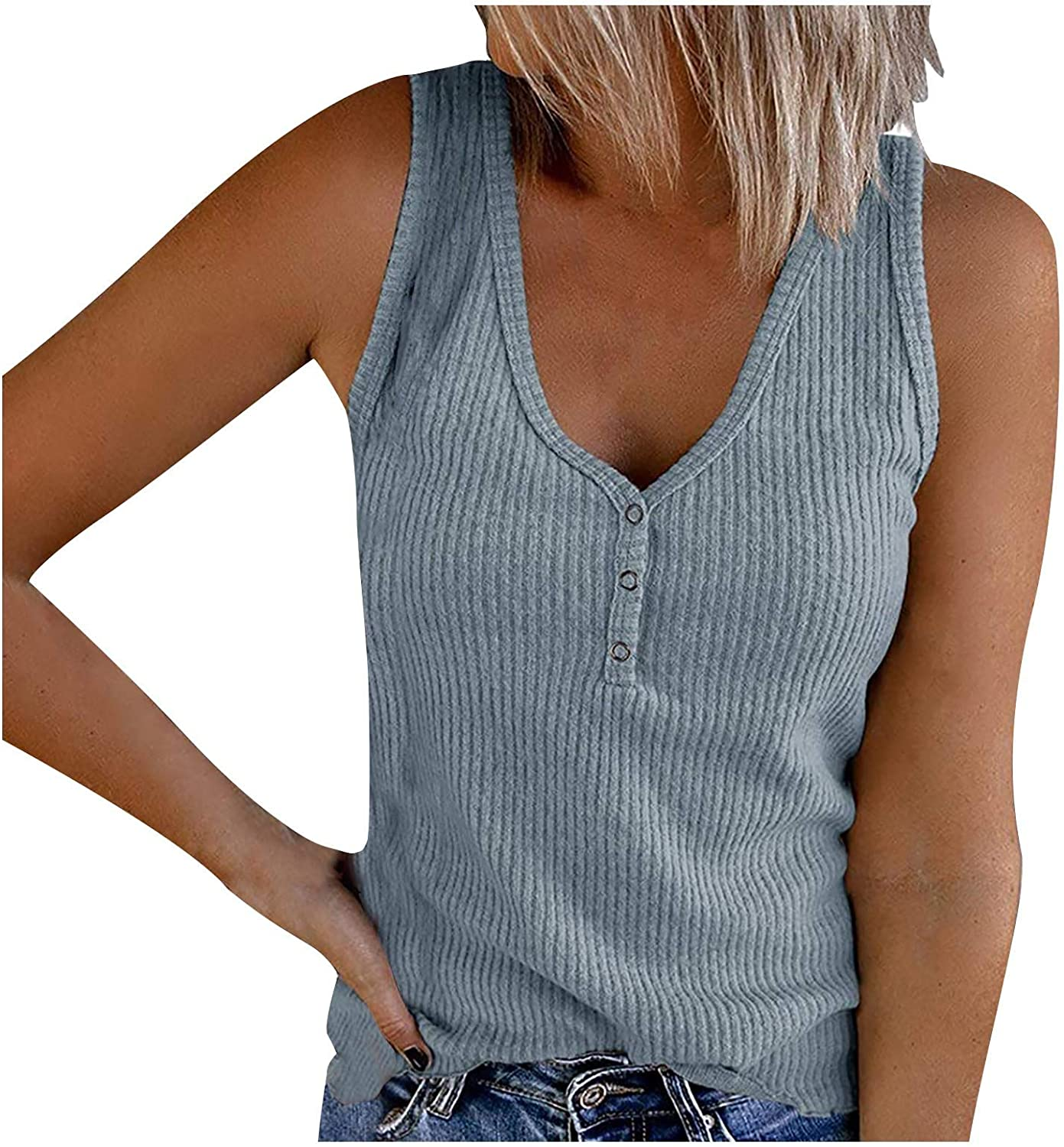 Gerichy Tank Tops for Women, Womens Casual Summer Sleeveless Plus Size Loose Tank Tees Shirts Blouses Tunics Tops