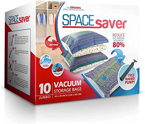lowest Spacesaver Premium Vacuum Storage Bags. 80% More Storage! Hand-Pump for new arrival Travel! Double-Zip Seal and Triple online sale Seal Turbo-Valve for Max Space Saving! (Jumbo 10 pack) sale