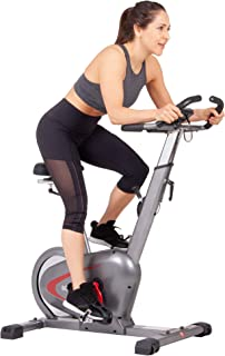 Body Rider BCY6000, Indoor Upright Bike with Curve-Crank Technology, Rear Flywheel, Grey/Black/Red
