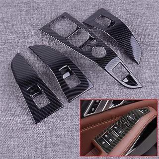 Per BMW X5 G05 X7 G07 2019 TINTABO Car ABS ABS Fibra di carbonio Finestra Interruttore a pulsante Interruttore Cornice Cornice Modanatura adatta