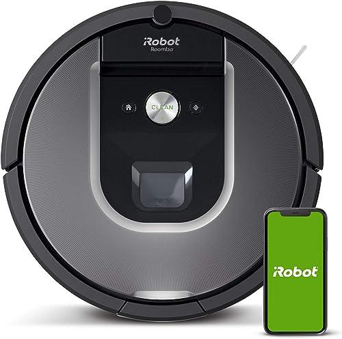 iRobot Roomba 960, aspirateur robot avec forte puissance d'aspiration, 2 brosses anti-emmêlement, idéal pour animaux,...