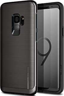 Galaxy S9 Case, OBLIQ [Slim META], Slim Dual Layered Case, Inner TPU with Outer PC with a Metallic Brushed Finish and Anti-Shock Technology for The Samsung Galaxy S9 (2018) (Titanium Black)
