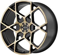 KMC KM695 CROSSHAIR Satin Black W/Machined Face and Tinted Clear Wheel Chromium (hexavalent compounds) (22 x 9. inches /5 x 74 mm, 35 mm Offset)