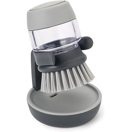 Joseph Joseph - Palm Scrub - Brosse avec Réservoir Liquide Vaisselle - Gris