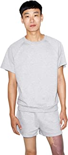 American Apparel Men's California Fleece Short Sleeve Cut Off Raglan Sweatshirt