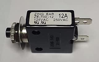 CBK Supply - ZE700-12A Zing Ear thermal circuit breaker replaces Carling, Joemex, Kuoyeh, P&B