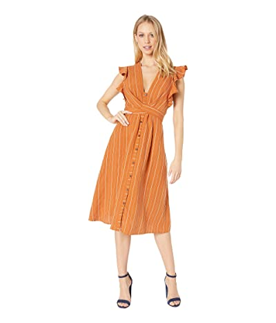 ASTR the Label Saturate Dress (Papaya Stripe) Women