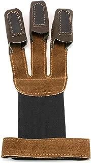 ALLNESS INC Three Finger Leather Archery Glove (X-Lagre)