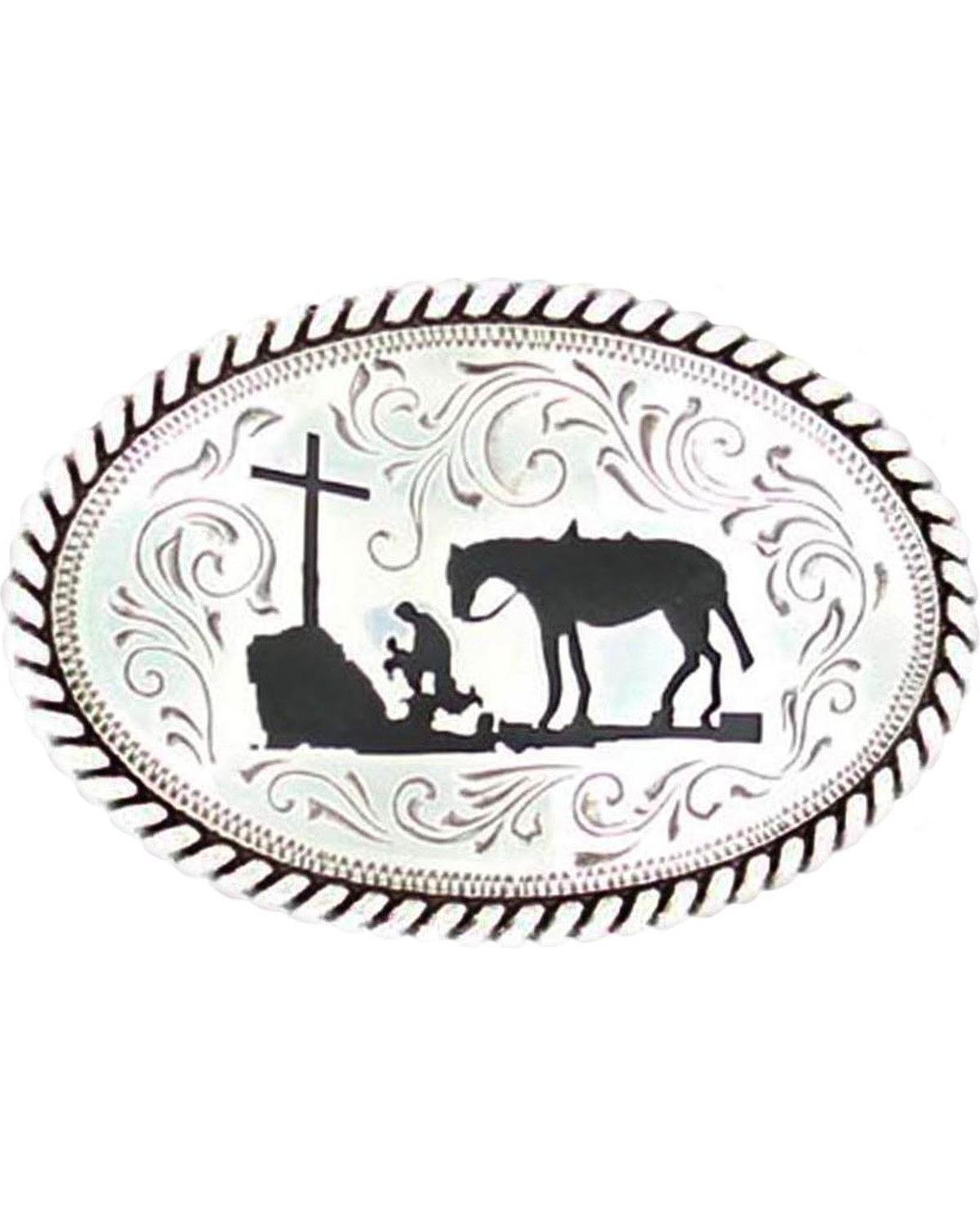 Nocona Kneeling Prayer Cowboy Buckle