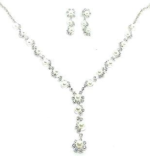 Ohrringe SS16 Braut Schmuckset Strass Hochzeit Halskette
