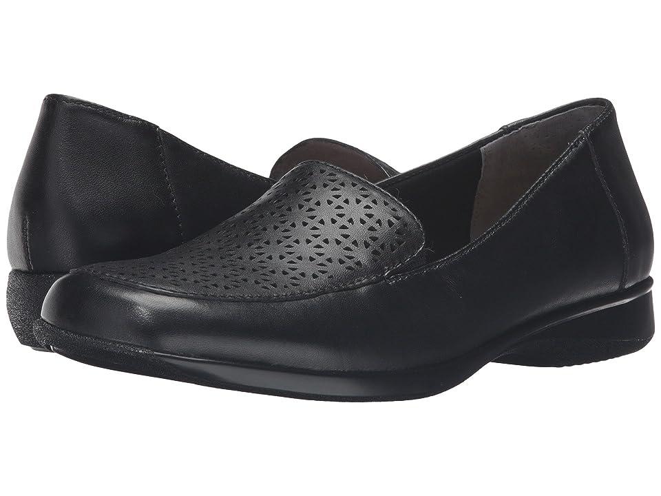 Trotters Jenn Laser (Black Soft Nappa Leather/Patent) Women