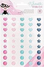 American Crafts Shimelle Glitter Girl 45 Piece Enamel Dot