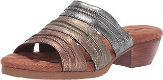 حذاء نسائي من Walking Cradles مصنوع من جلد متعدد الألوان معدني مقاس 8 M (B)