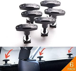 GPCA Tie-Down Anchor/T-Handle Quick Removal Thumb Screw Bolts Set for Jeep Wrangler JL/JLU/JK/JKU Hard Top Cargo Deck, Designed in USA … (JK/JKU/JL/JLU Anchor 6-Pack)