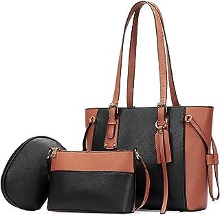 حقائب يد نسائية من الجلد من جوسيكو حقائب يد للنساء، حقائب كتف بمقبض علوي حقيبة كروس كروس كروس هوبو من 3 قطع